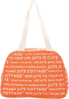 Jute Cottage Tape Handle Lunch Shoulder Bag (Tenzarine)