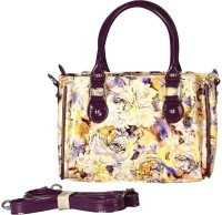 Bagmire Beautiful Women Hand-held Bag (Purple-Cream)