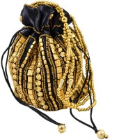 Mpkart Bhopali Golden Pouch Potli Black