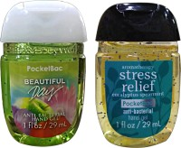 Bath & Body Works Set Of 2 Beautiful Day , Stress Relief Anti Bacterial Hand Gel Hand Sanitizer (58 Ml)