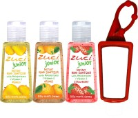 Zuci 30 Ml Mango, Orange , Strawberry Hand Sanitizer With Bagtag Hand Sanitizer (90 Ml)