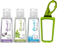 Zuci 30 ML COCONUT VERBENA, TULSI AND NATURAL HAND SANITIZER WITH BAG TAG Hand Sanitizer (90 Ml)