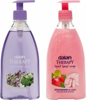 Dalan Therapy Liquid Soap Combo Pack Of Lavender & Thyme And Strawberries & Cream Hand Wash (800 Ml)