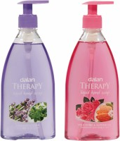 Dalan Therapy Liquid Soap Combo Pack Of Lavender & Thyme And Wild Roses & Almond Oil Hand Wash (800 Ml)
