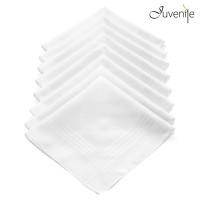 Juvenile White Gifts Set Handkerchief Pack Of 8