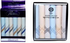 Paras (Q.No.V&M300DD-9999)-Men's 100 % Natural Cotton Hanky Handkerchief