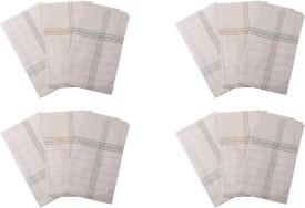 Gumber White Checkedd Handkerchief