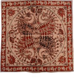 Ganesh Kalamkari Handkerchief Ganeshk10 Handkerchief