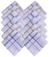 Mirchifry Pack Of 12 Stripped Cotton For Men Handkerchief Pack Of 12