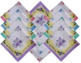 Globalgifts Multicolor Set of 12 Napkins