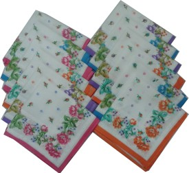 SaifeeSons Autum Flowers Handkerchief