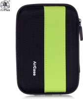 AirPlus Pocket Hard Drive Pouch 2.5 Inch External Hard Disk Cover (For Western Digital, Seagate, Sony, Transcend, ADATA, Hitachi, Iomega, Toshiba, Dell, Lenovo, HP, And Other 2.5 Inch Hard Drive Disk., Green-Black)