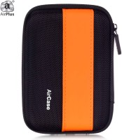 AirPlus Pocket Hard Drive Pouch 2.5 Inch External Hard Disk Cover (For Western Digital, Seagate, Sony, Transcend, ADATA, Hitachi, Iomega, Toshiba, Dell, Lenovo, HP, And Other 2.5 Inch Hard Drive Disk., Orange-Black)