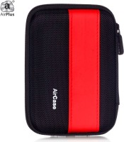 Airplus Pocket Hard Drive Pouch 2.5 Inch External Hard Disk Cover (For Western Digital, Seagate, Sony, Transcend, ADATA, Hitachi, Iomega, Toshiba, Dell, Lenovo, HP, Other 2.5 Inch Hard Drive Disk., Red-Black)