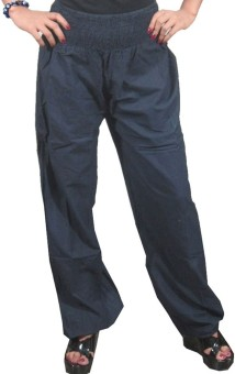 Indiatrendzs Solid Polyester Women's Harem Pants