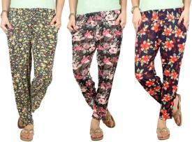 Q-Rious Floral Print Polyester Women's Harem Pants - HAREH9PMGUH4GFW3
