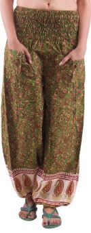 Indi Bargain Printed Cotton Women's Harem Pants - HARE5GN3F9YBDG8N