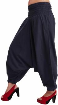 Shop Frenzy Solid Cotton Women's Harem Pants