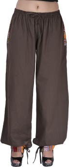 Indi Bargain Solid Cotton Women's Harem Pants - HARE6FWUH7GVUGQZ