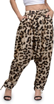 The Gud Look Animal Print Polyester Women's Harem Pants