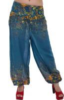 Indi Bargain Floral Print Rayon Women's Harem Pants