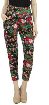 Camey Floral Print Polyester Women's Harem Pants