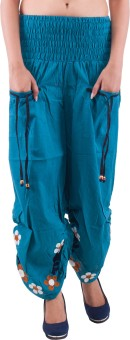 Indi Bargain Embroidered Cotton Women's Harem Pants - HARE5CXT5FBK5PTV