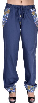 Indi Bargain Solid Cotton Women's Harem Pants - HARE6FWUWQP6FRHK