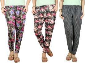 Q-Rious Floral Print Polyester Women's Harem Pants - HAREH9PSUTXFBTP7