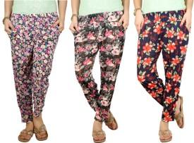 Q-Rious Floral Print Polyester Women's Harem Pants