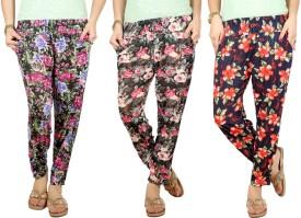 Q-Rious Floral Print Polyester Women's Harem Pants - HAREH9PZQHZ9DYBB