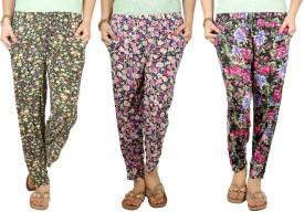 Q-Rious Floral Print Polyester Women's Harem Pants - HAREH9PZDNQ8JZF8