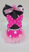 The Papier Party Cone Hat (Pink And Black, Pack Of 1)