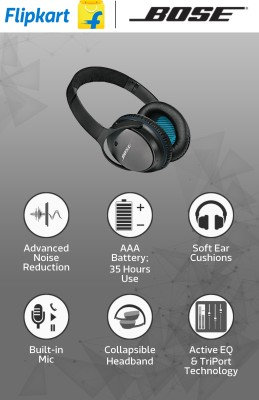 cfd49b792cf ... Bose QuietComfort 25 for Samsung/Android Devices Wired Headphones  (Black, Over the Ear ...