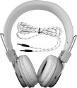Casecube Headphone-1001hp Wired Headphones (White, Over The Head)