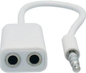Yby Headphone 3.5Mm Aux Splitter Headphones (white)