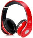 Clawin Beatz Studio (STN 10) High Quality(ND5) Stereo Dynamic Headphone Wireless Bluetooth Headphones (Red, Over The Ear)