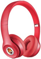ACID EYE Premium Quality SQLO 2-BH-460 Bluetooth Headphone With Calling Facility Stereo Dynamic Headphone Wireless Bluetooth Headphones (Red, Over The Ear)
