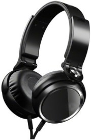 Dcoll High Quality MDR 400 Stereo Dynamic Headphone Wired Bluetooth Headphones (Black, Over The Ear)