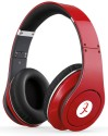 Head Max TM 003S High Quality Stereo Dynamic Wired & Wireless Bluetooth Headphones (Red, Over The Ear)