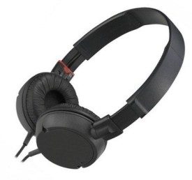 Alexis24 High Quality MDR 100 Stereo Dynamic Headphone Wired Bluetooth Headphones (Black, Over The Ear)