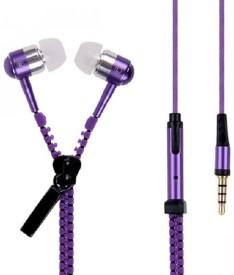 Fashion Zone zippurple001 Stereo Dynamic Headphone Wired Headphones