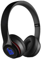 Swiss Beatz Superior Quality Solo2 S460 (TR-BLACK-BLUE-LOGO) With Incoming Calling Button Facility Plus 3.5 Mm Jack (FC-144) Stereo Dynamic Wireless Bluetooth Headphones (Black, Over The Ear)