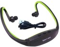Captcha Wireless With FM Radio And Memory Card Slot Stereo Wireless Headphones (Green, In The Ear)