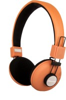 Playmor PMBH2101601 Stereo Wired Bluetooth Headphones (Orange, Over The Ear)