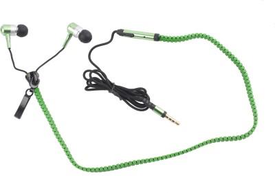 Hexadisk HexazipGreen-004 Zipper Green Headphone Wired Headphones