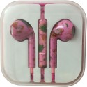 Karp Fancy Printed Designer Earphone For Apple IPhone/Android Mobiles/Tablets With Mic (Pink Santa) Wired Headset (Pink)