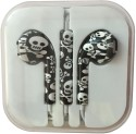 Karp Fancy Printed Designer Earphone For Apple IPhone/Android Mobiles/Tablets With Mic (Skull With Cross Bones) Wired Headset (Multy)