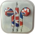 Karp Fancy Printed Designer Earphone For Apple IPhone/Android Mobiles/Tablets With Mic (Australian Flag) Wired Headset (Red)