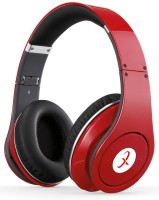 Primeval TM 003S Superior Quality Stereo Dynamic Wired & Wireless Bluetooth Headphones (Red, Over The Ear)